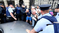Politicians finally leave Leinster House after protests