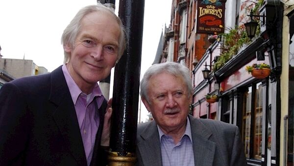 Des Keogh with Niall Tóibín when they were performing in 'The Sunshine Boys' at Cork's Everyman Palace.