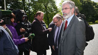 SF's Gerry Adams believes Peter Robinson is 'making a show of himself'