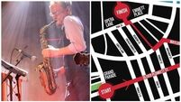 The official route map for Cork's 'Blaze of Jazz' parade
