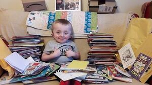 Post from around the world for boy whose first birthday party in three years was cancelled