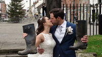 Newlyweds' big day survives floods in England