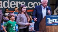 Bernie Sanders' grandson wore an Irish jersey at presidential campaign rally