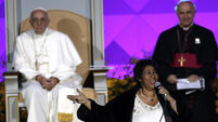 Pope shares US stage with Aretha Franklin and Andrea Bocelli