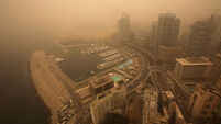 Sandstorm covers cities of Beirut and Damascus in yellow dust